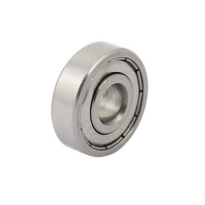 Metal Mute Deep Groove Sealed Shielded Ball Bearing Silver Tone 10mmx30mmx9mm
