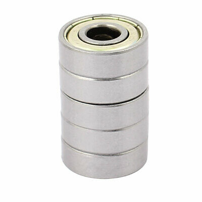 Metal Shielded Sealed Low Speed Deep Groove Ball Bearing 8mmx22mmx7mm 5pcs