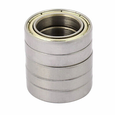 Metal Shielded Sealed Low Speed Deep Groove Ball Bearing 15mmx24mmx5mm 5pcs