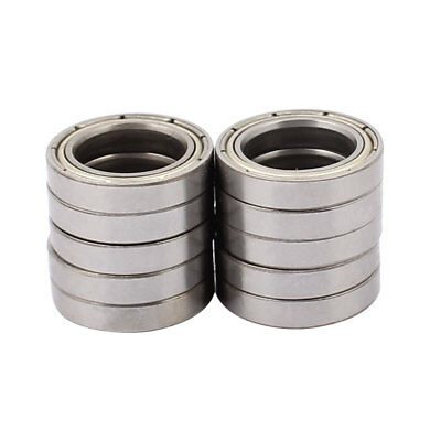Metal Shielded Sealed Low Speed Deep Groove Ball Bearing 17mmx26mmx5mm 10pcs