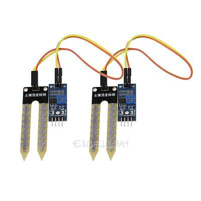 Soil Humidity Hygrometer Moisture Detection Sensor Module Arduino w/Dupont Wires