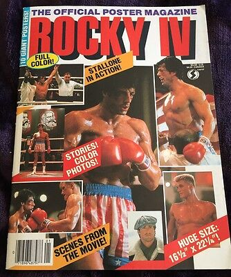 ROCKY IV Official Poster Magazine 1985 RARE MINT CONDITION STALLONE