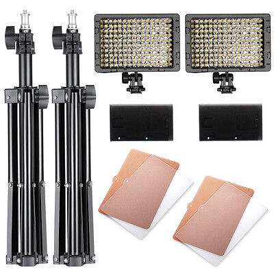 Neewer Kit de 160?LED Iluminación de Estudio CN-160 Regulable?Panel led
