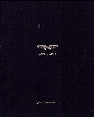 Aston Martin Vanquish 2013 Sales Brochure - Coupe - 16pgs