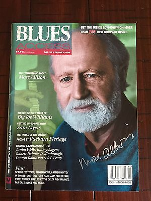 Mose Allison Autographed / Signed Blues Access Magazine Spring 1998 Issue! Mint!