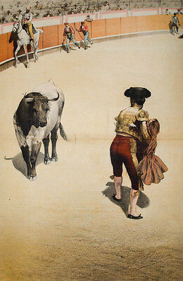 c1890 Stierkampf Bullfighting Tauromaquia Torero Perea y Rojas Coloured Litho