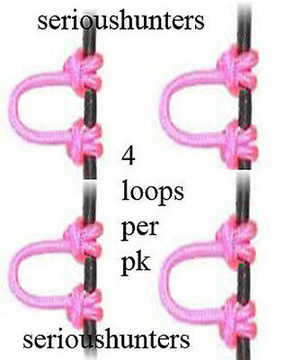 4 Pink Compound Bow String Cord Release Bowstring D Loop