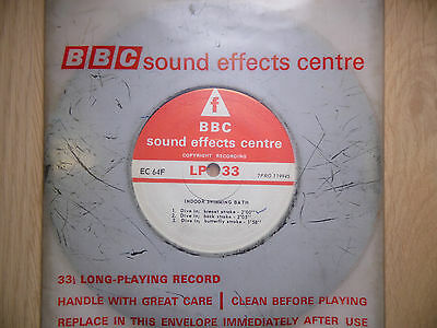 "BBC Sound Effects 7"" Record - Indoor Swimming Bath, Pool, Breast Back Butterfly"