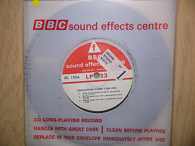 "BBC Sound Effects 7"" Record - Firefighting Pumps (1860 - 90), EC155A"