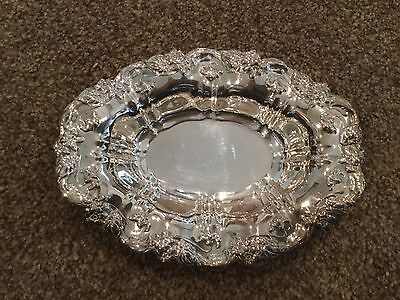 pretty silver plated sweet or trinket dish