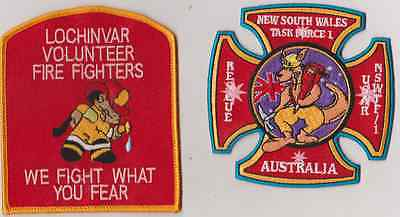 Lochinvar, NSW Rural Fire Brigade & NSW Task Force 1 patches