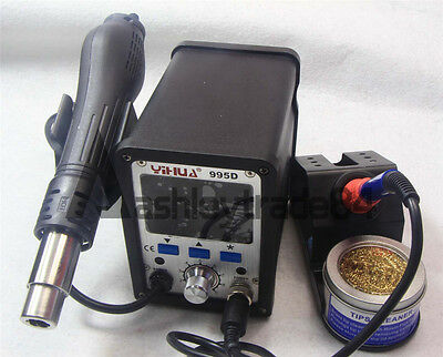 2IN1 YIHUA 995D Soldering Station Used For Motherboard Repair Tools 220V New