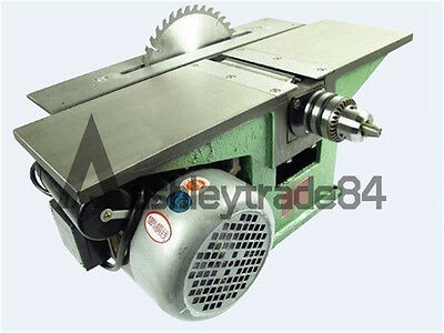 Bench Multifunctional Woodworking machine for Planing/ Sawing/ Drilling 220V