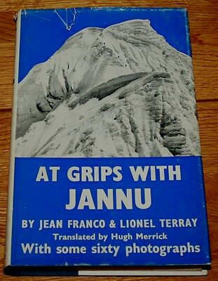 At Grips with Jannu - Terray + Franco 1st Ed + DW Climbing, Mountaineering Books