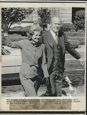 1976 Press Photo President and Mrs Gerald Ford