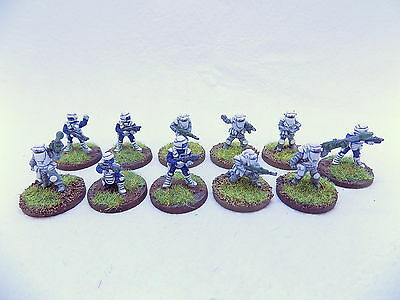 15mm Sci Fi IMPERIAL TROOPERS x11 Superbly Painted Traveller 37262