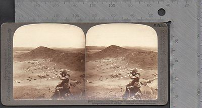 Military - Boer War Looking into Orange Free State 12th Brigade Camp Stereo Card