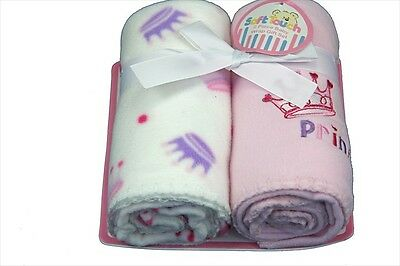 New 2 pack of Pink princess wraps - Baby girl (pram moses basket blanket)