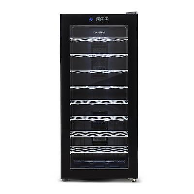 Klarstein Wine Refrigerator Cabinet 36 Bottles Beer Drinks 8 Shelves Glass Door