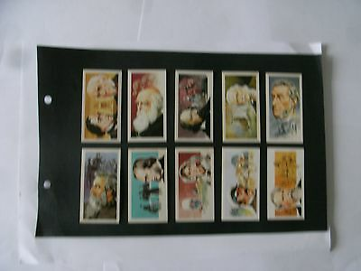 Full Set x 50 Tea Cards Brooke Bond. Famous People.   1969.