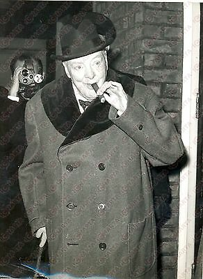 1960 LONDON Hyde Park Gate - Winston CHURCHILL smoking cigar *Photo 15x20 cm