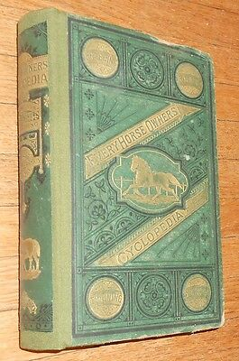 1871 Antique Book - Every Horse Owner's Cyclopedia - illustrated