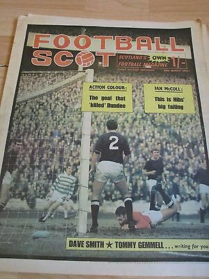 Football Scot magazine March 1970   Dundee , Celtic