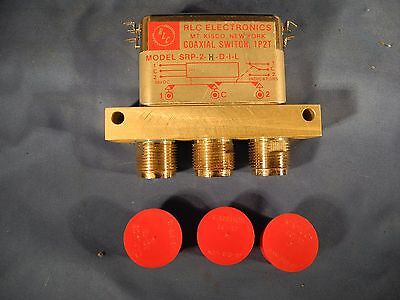 1pcs NOS RLC RF Switch Coaxial Relay 1P2T SRP-2-D-I-L HN Connectors 28VDC