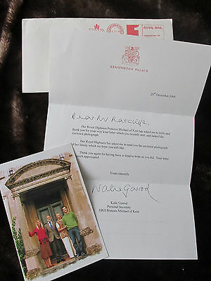 Letter From Trh Prince & Princess Michael Of Kent Plus Photograph