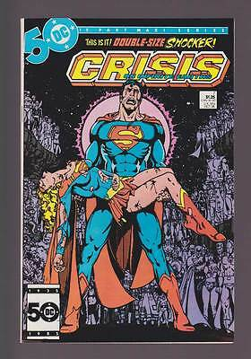 Crisis on Infinite Earths # 7  Death of Supergirl !  grade 9.2 scarce book !