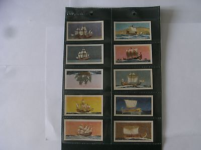 Full Set x 50 Tea Cards Brooke Bond. Saga of Ships.  1970.