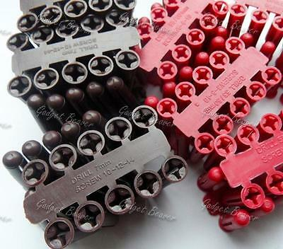 Rawl Plugs, Raw, Wall Fixings, Assorted Sizes, Red & Brown x 140