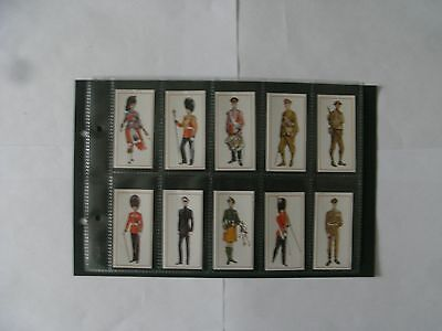 Full Set x 50 Carreras Black Cat Cigarette Cards. Military Uniforms.1976.