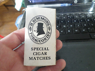 Vintage Advertisement Full Match Box H.Simmons Tobacconist Special Cigar Matches