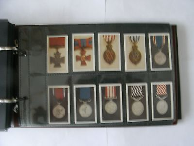 Rare Full Set x 50. R. J .Hill Cards + Sleeves. Decorations @ Medals. 1940.
