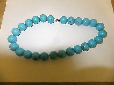 Very Large Turqouise Bead Necklace Very Heavy
