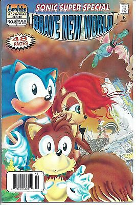 """Sonic Super Special #2 (1997) NM  """"Brave New World""""  """"NEWSSTAND"""" - Retail"""