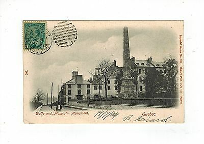 Canada Edvii 1904 Postcard Wolfe And Montcalm Monument Montreal Duplex