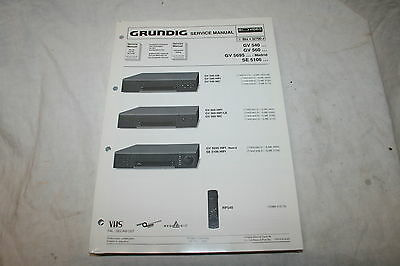 Service Manual - GRUNDIG VHS Videorecorder - GV540, 560, 5695 Madrid, SE5106
