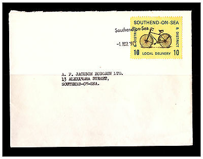 GB Southend On Sea Cover With Local Delivery Stamp. 1971. Used.. #305