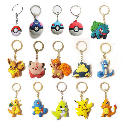 Fancy Fantasy Pokemon Go Poke Ball Rubber Soft Doll Handbag Key Chain Toys