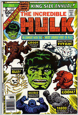 INCREDIBLE HULK (1968) King-Size Annual #5 - Groot - VFN/NM (9.0) - Back Issue