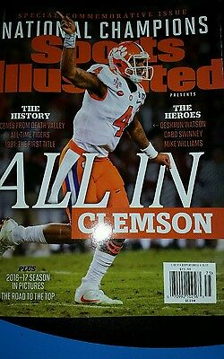 "Sports Illustrated - 2017 ""National Champions - ALL IN CLEMSON"" -"
