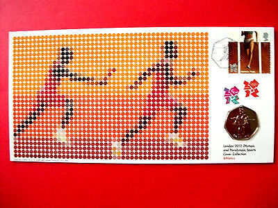 London 2012 Olympic & Paralympic Sports 50p coin First Day Cover