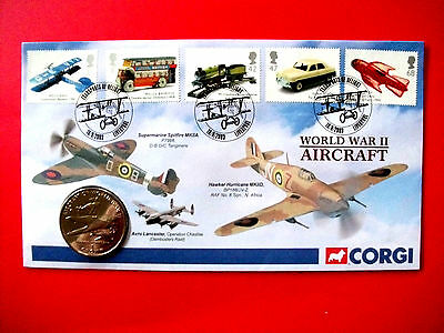 Corgi Isle of Man 1 Crown Piece First Day Cover 2003
