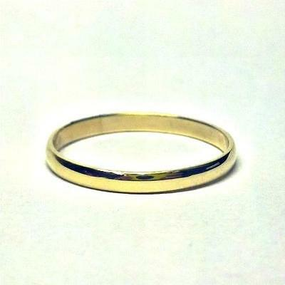 Ladies 9ct Yellow Gold D-Shape Heavy Weight Wedding Ring