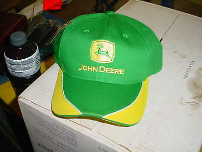 John Deere Mens Hat - GREEN YELLOW NEW WITH TAG