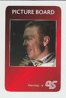 Cycling : Chris Hoy : UK sports game card - red back
