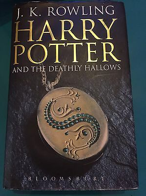 Adult Hardback Harry Potter And The Deathly Hallows First Edition Book