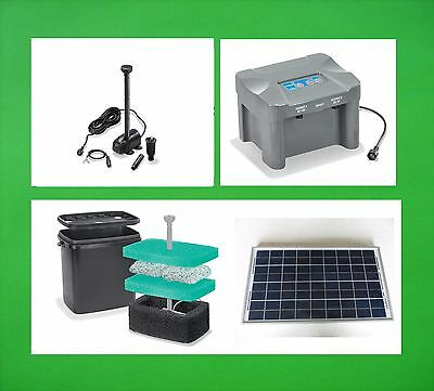 20 W Solar Submersible Pump Battery Stream Pond Filter